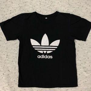 Adidas Logo Black Tee